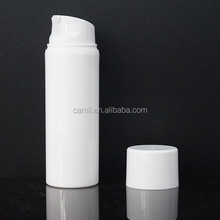 hot sale white color plastic cosmetic airless bottle 200 ml