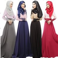 Elegant lady turkish arabic clothes for muslim long dress wholesale plus size korean Linen maxi dresses