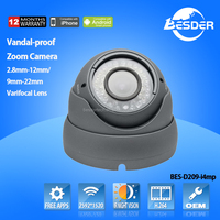 Full HD 4.0 Megapixel Zoom Ip Camera Varifocal Lens 2.8mm To 12mm Vandal-proof Case Security Camera