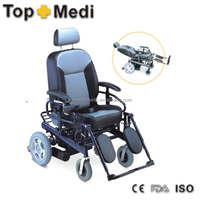 Rehabilitation Therapy Supplies transport chairs standard size small high back reclining electric wheelchair