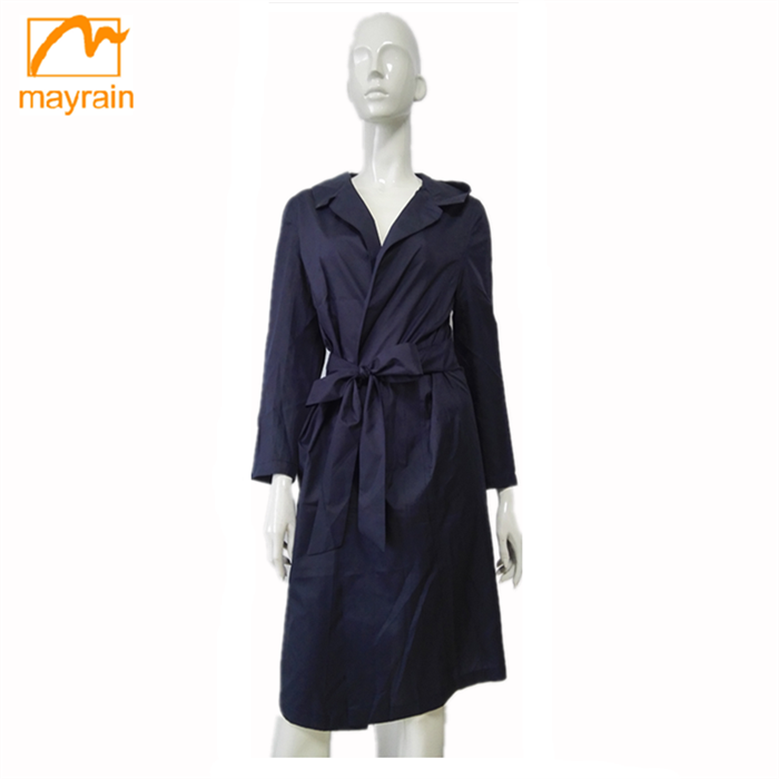 2018 Lady Spring Coat European and American Thin Long Dress Wind Coat for Women