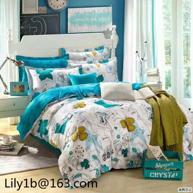 Beautyful Bedding set, bed sheet and quilting set full comforter sets twin bed in a bag