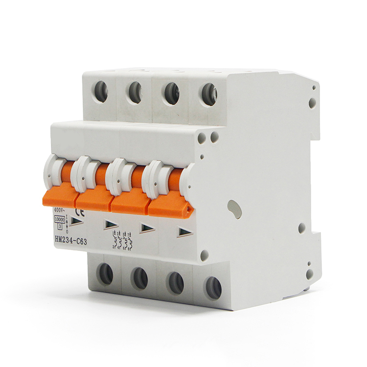 Factory C63 4P Circuit Breaker MCB Miniature Circuit Breaker Dz47-63 <strong>China</strong> 4p pole Single Phase 1 2 6 Amp Mini C32 C63