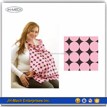 Customized fashional pink dot breast feeding nursing cover