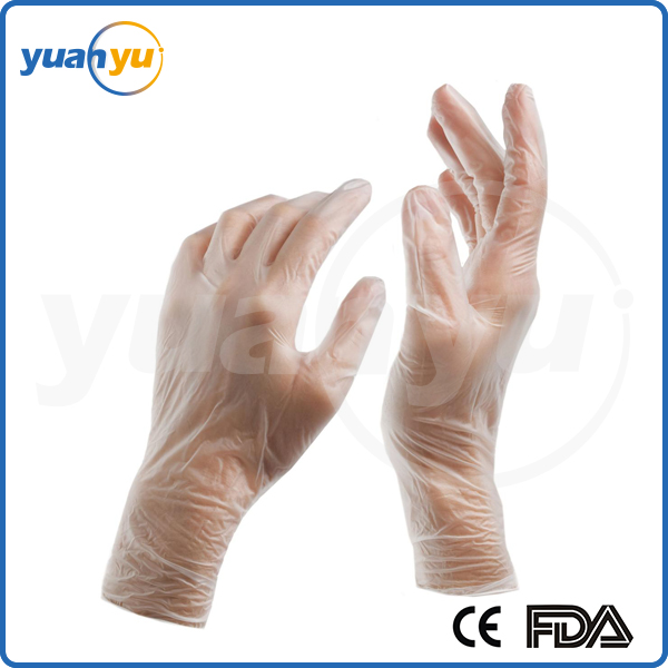 Hot Sale non sterile powdered and powder free food grade disposable pvc clear vinyl glove for household food industry
