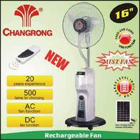 16'' rechargeable portable air cooling mist box fan with remote and solar operated