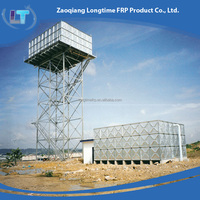 Galvanized Steel Mould Pressed Water Tank , Elevated Steel Tower Galvanised Steel Water Tank