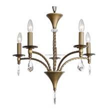 Modern ivory white polished roof hanging crystal chandelier lighting for home decor