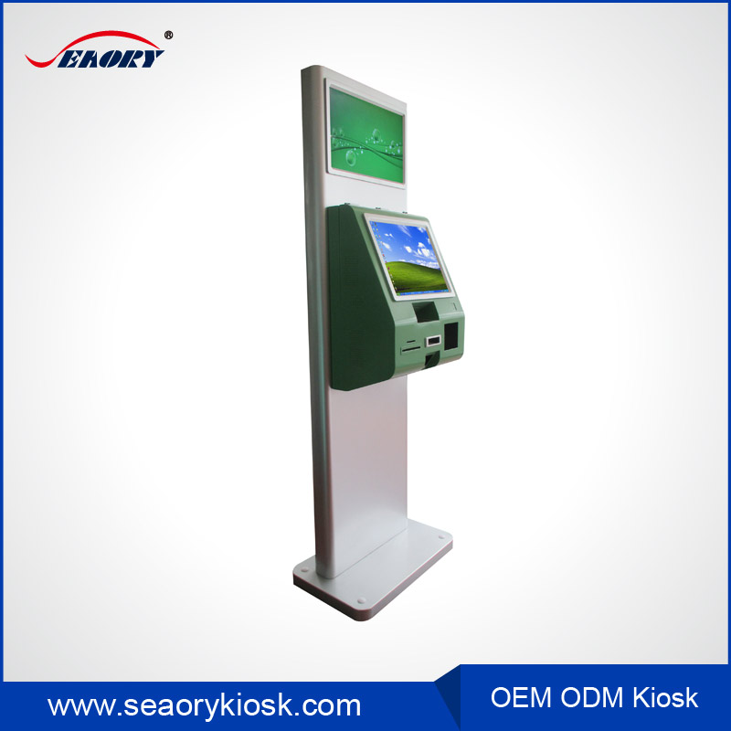 Dual Screen Airport Hospital Check In Card Dispenser Payment Kiosk