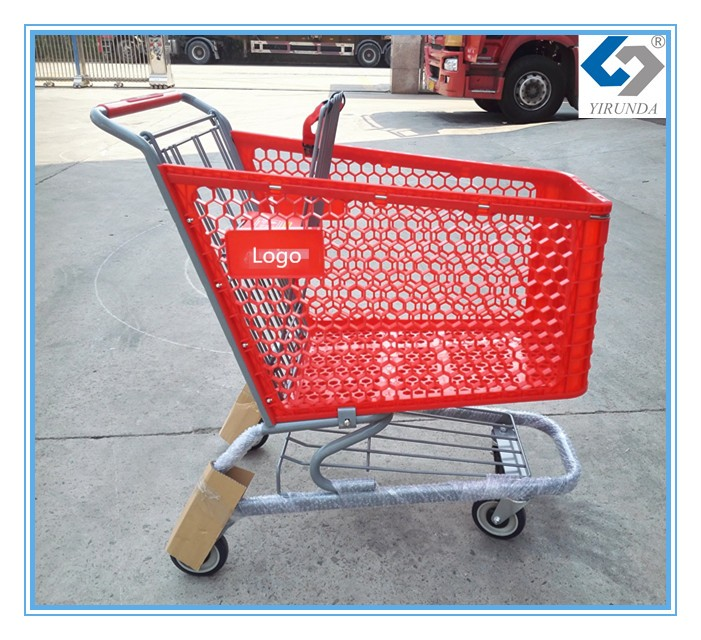 Hot sale china made plastic shopping cart with america style