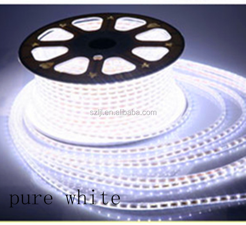 220V SMD 5730 Pure White Waterproof LED Flexible Strip Light 60LEDs IP67