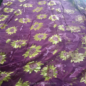 silk and metallic jacquard lurex fabric pure silk brocade fabric