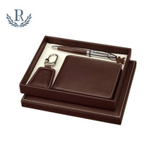 Hot selling personalized custom leather corporate gifts business gift sets