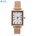 HOT! Classic dial with Square case & Mesh strap watch Custom Logo Japan Movement ladies Watch