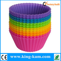 Heat resistant silicone muffin baking cup