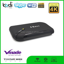 OTT 1+8/2+16 GB OS 4.4 Android TV box Support H.265, 4K*2K, can be connected to the Internet, watching video online