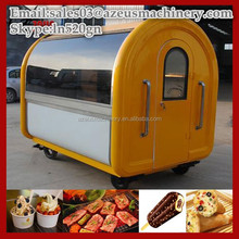 Four wheels mobile snack food trailer / soft ice cream vending cart