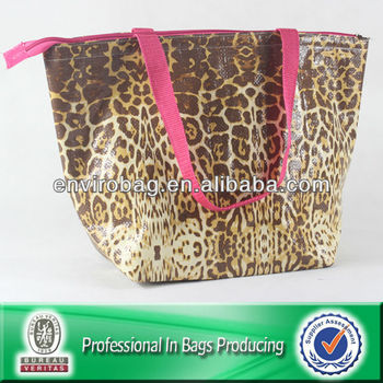 Leopard Big Recycle PP Nonwoven Wine Cooler Bag w/n Promtion