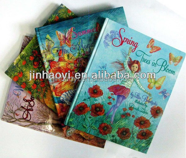 Full color print lovely hardcover child story book with hot foil and silk screen printing