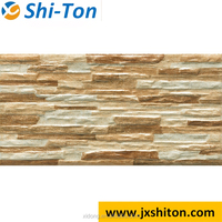 wooden look polished porcelian tile for wall tile for house plans building material
