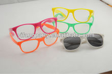 New Glow in the dark sunglasses/ fluorescent glasses/ luminous glasses