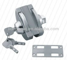 inside and outside open stainless steel center glass door lock D-230