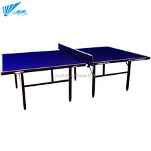 Manufacture economic indigo blue 15MM MDF foldable top fitness indoor table tennis table wholesale