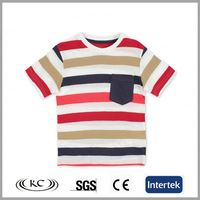 low price 100 cotton china stripe print girls stylish t-shirt