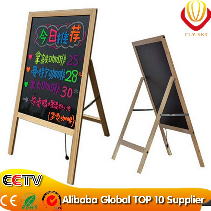 2017 new products on china market advertising favor wooden led writing board wooden frame led lighting message board