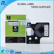 Cheap 6mm label printer tape blue on white D1 43614 tape compatible for DYMO labelmanager