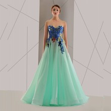 2016 Lime Green Alibaba Pop Line Evening Dresses From Dubai