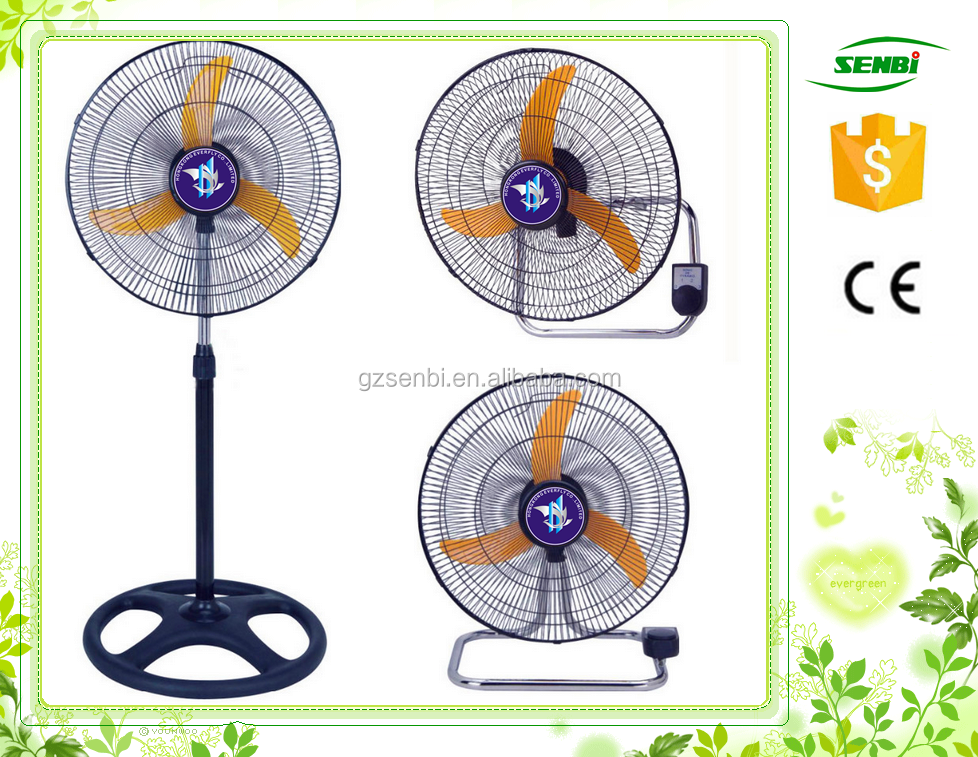 wholesale used appliances high velocity fan 2 in 1 metal stand fan