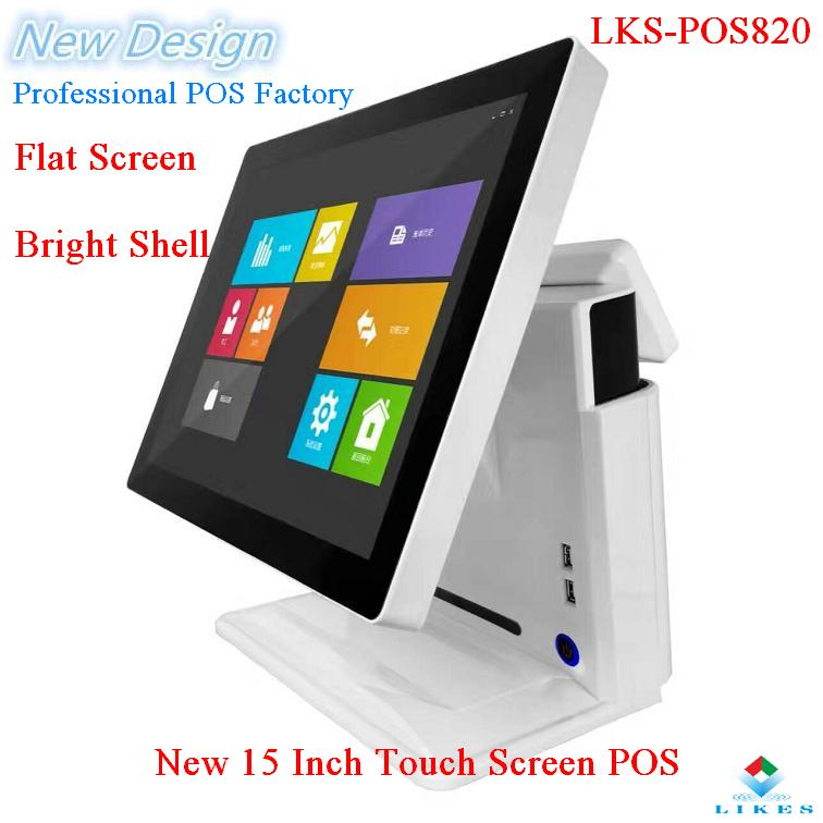 2017 new retail all in one touch monitor Pos terminal Dual screen
