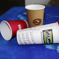 kids party paper cups, tea paper cups with logo, 16 oz paper beverage cups