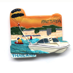 New product pattaya scenic spots custom made fridge magnet