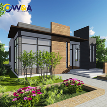 (WAS3505-110S)Luxury Steel Prefabricated Villa Building House for Hotel