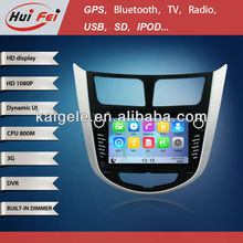 HuiFei MTK-A9 Platform Car GPS DVD 7 Inch 1080P HD multimedia with Support 3G WIFI