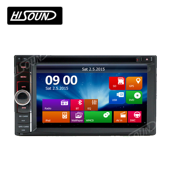 With gps bluetooth 2din 6.2'' touch screen car stereo dvd cassette player