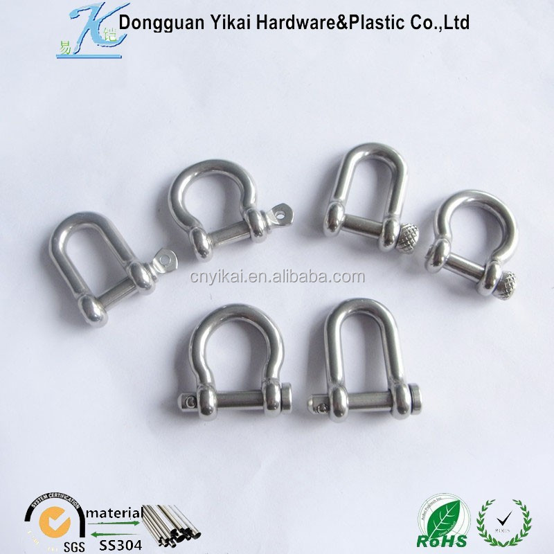 shackle rope cable chain rigging d ring,stainless steel rings