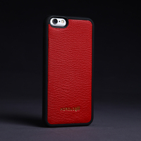 Goat skin from France red Stylish cell phone case from alibaba shop