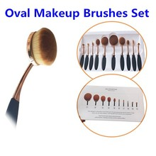 Meistverkauften Produkte Kosmetik Oval Make-Up Pinsel, Private Label Professionelle Make-Up Pinsel Kostenlose Probe