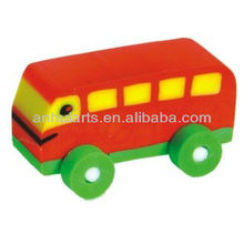 3D bus shaped eraser