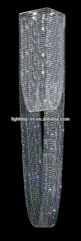 5meter height Unique Crystal Lamp for house and hotel Stair