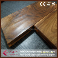 Eco-friendly handscraped Asian walnut acacia solid wood flooring