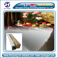 Printable glossy oil/polyester/cotton waterproof canvas for solvent,eco-solvent,pigment,dye,compatibility printing machine