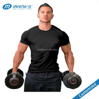 Customized Mens Short Sleeves Dry Fit Tight Compression Body Shape Running Gym T-Shirt