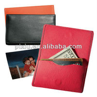 Magnetic leather name card holder case