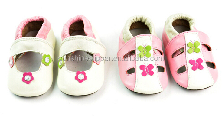 2015 baby Spanish leather pre walker soft sole shoes