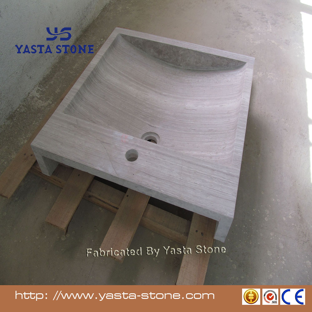 Yasta Top quality white marble wash hand basin for kitchen
