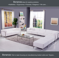 816-1#cheap I shaped leather sofa set price
